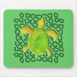 Celtic Knot Turtle (Green) Mousepad