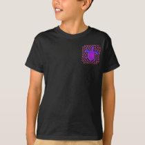 Celtic Knot Turtle (Purple) 2-Sided Kids' Drk Shrt T-Shirt