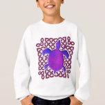 Celtic Knot Turtle (Purple) Kids' Sweatshirts