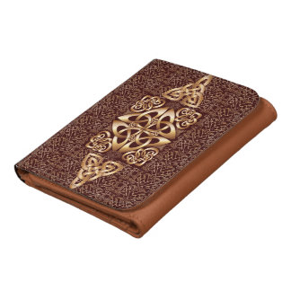 Celtic Knot Leather Tri-fold Wallet