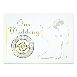 "Celtic Knot Wedding Invitation Set 5"" X 7"" Invitation Card"