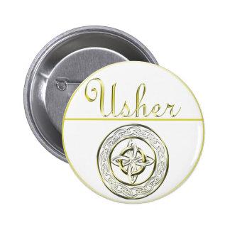 Celtic Knot Wedding Invitation Set Pinback Button