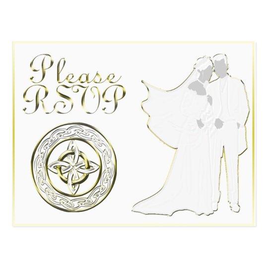 Celtic Knot Wedding Invitation Set Postcard