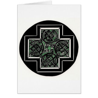Celtic Knot with Dragons Greeting Cards