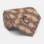 Celtic Knot Woodburned Monogram Tie