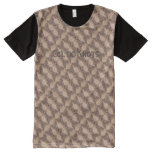Celtic Knot Woodburned Pattern All-Over-Print T-Shirt