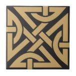 Celtic Knot Work Pattern Ceramic Tile