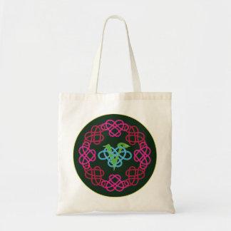 Celtic Knot Work Vegan Polyamory Heart Circle Tote Bag