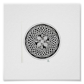 Celtic knot wreath poster