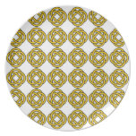 Celtic knot - yellow - plate