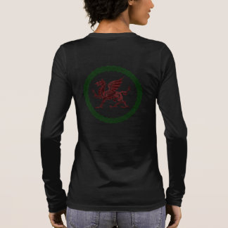 Celtic Knots And Red Dragon Long Sleeve T-Shirt
