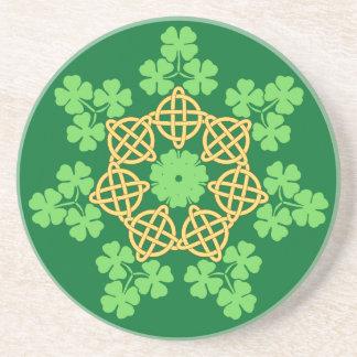 Celtic Knots and Shamrocks coaster