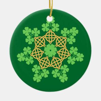 Celtic Knots and Shamrocks ornament