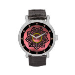 CELTIC KNOTS FLOWER AND PINK AMETHYST GEM STONES WATCH