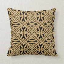 Celtic Knots Pattern Throw Pillow