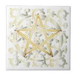 Celtic Knots & Pentacle - Trivet/Tile - 1 Tile