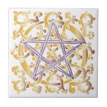 Celtic Knots & Pentacle - Trivet/Tile - 4