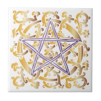Celtic Knots & Pentacle - Trivet/Tile - 4 Tile