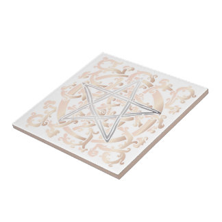 Celtic Knots & Pentacle - Trivet/Tile - 5 Tile