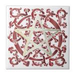 Celtic Knots & Pentacle - Trivet/Tile - 6 Tile