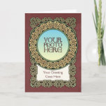Celtic Knotted Ring Photo Frame Greeting Card