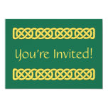 Celtic Knotwork Band Invitation