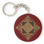 Celtic Knotwork Birds Keychain, Burgundy Keychain