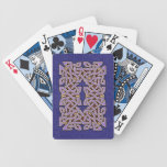 Celtic Knotwork Border Playing Cards (Gold/Purple)