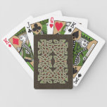 Celtic Knotwork Border Playing Cards (Green/Brown)