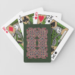 Celtic Knotwork Border Playing Cards (Red/Green)