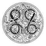 Celtic knotwork classic round sticker