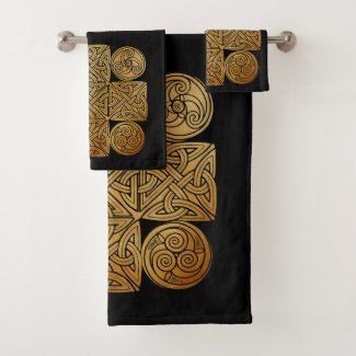 Celtic Knotwork Cross Bath Towel Set