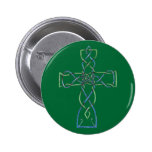 Celtic Knotwork Cross,  Button, Pin