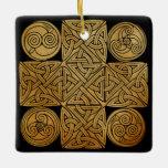 Celtic Knotwork Cross Ceramic Ornament