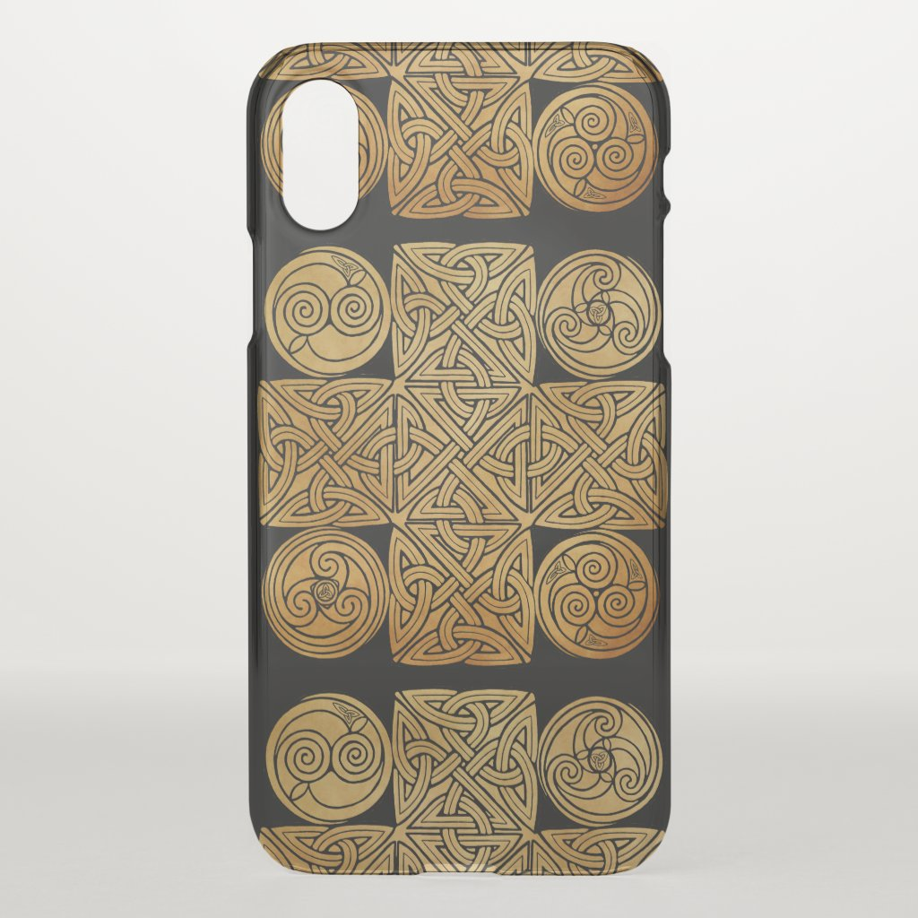 Celtic Knotwork Cross iPhone X Case