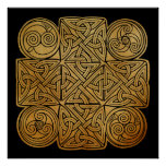 Celtic Knotwork Cross Poster