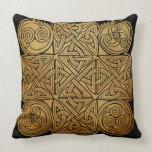 Celtic Knotwork Cross Throw Pillow