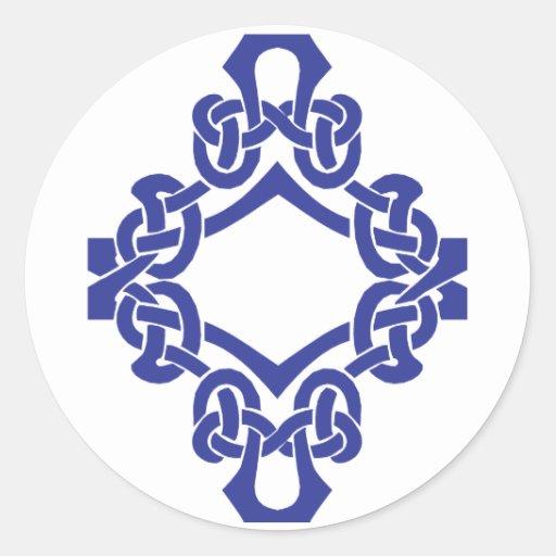 Celtic Knotwork del diamante Pegatina Redonda