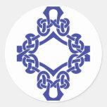 Celtic Knotwork del diamante Pegatinas Redondas