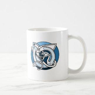 Celtic Knotwork Design - Blue Dog Coffee Mug