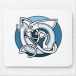 Celtic Knotwork Design - Blue Dog Mouse Pad