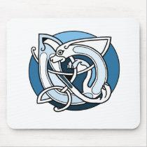 Celtic Knotwork Design - Blue Dog