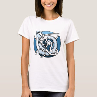 Celtic Knotwork Design - Blue Dog T-Shirt