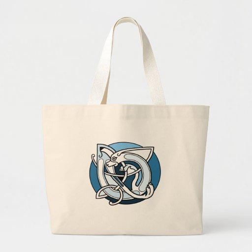 Celtic Knotwork Design - Blue Dog Tote Bag