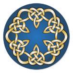 Celtic knotwork design classic round sticker