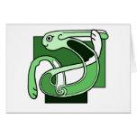 Celtic Knotwork Design - Green Rabbit Cards
