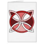 Celtic Knotwork Design - Interlacing Red