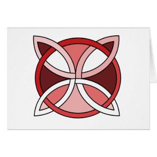 Celtic Knotwork Design - Interlacing Red Card