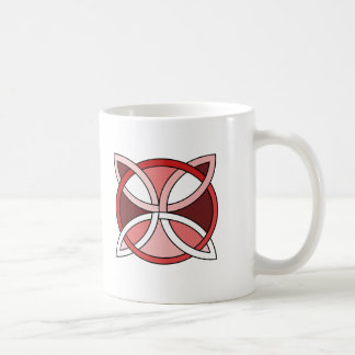 Celtic Knotwork Design - Interlacing Red Coffee Mug