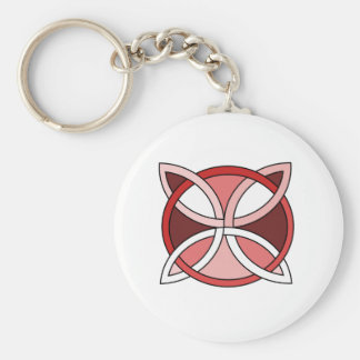 Celtic Knotwork Design - Interlacing Red Keychain